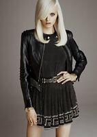 Leather Women's Jacket UK 8 EU 34 US 4 Versace H&M New BNWT Pristine Unworn