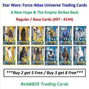 """Topps"" Star Wars: Force Attax Universe: - Regular / Base Cards (#97 - #144)"
