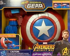 CAPTAIN AMERICA SHIELD Marvel NERF GEAR AVENGERS INFINITY WAR Build & Blast 2017