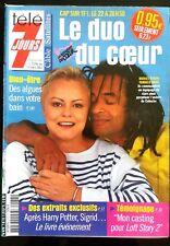 Télé 7 Jours 23/02/2002; Muriel Robin et Yannick Noah/ Ridley Scott/ Dani