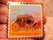 25 Cent Enamel & Metal STAGECOACH Bolo Tie STAMP by US Postal Service