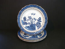 Royal Doulton~The Majestic Collection~Booths Real Old Willow~4 Salad Plates~Ex