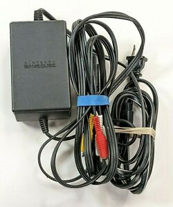 Official Nintendo OEM Gamecube Power Supply Cord AC Adapter DOL-002 w/ AV Cables