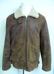Orvis Men's Lambskin Coat Jacket Brown - Size Medium