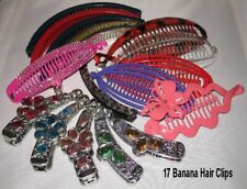 Closeout Lot 17 Piece Banana Hair Clips Mix Styles & Lengths Ships From Usa
