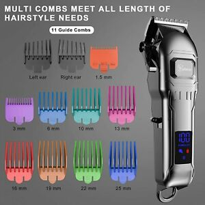 Professional Mens Barber Set Hair Clippers Cordless Trimmer Shaver Beard Cutting