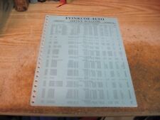 1941 EVINRUDE ELTO SERVICE BULLETIN TRADE IN VALUE GUIDE OUTBOARD D ORIGINAL