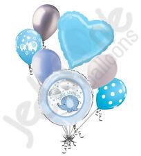 7 pc Umbrella Boy Elephant Baby Shower Balloon Bouquet Party Decoration Jungle