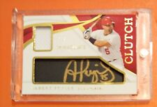 2019 IMMACULATE BASEBALL ALBERT PUJOLS CLUTCH PATCH AUTO 7/7