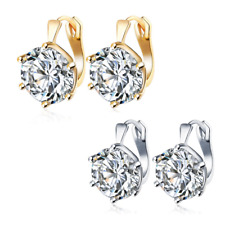 20mm Huggie Earrings 14K Gold or 925 Silver Plated Made with Swarovski Crystals
