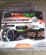 TruGlo Carbon Hybrid 5 Pin Bow Sight Black .019 Pins with Light - TG7415B