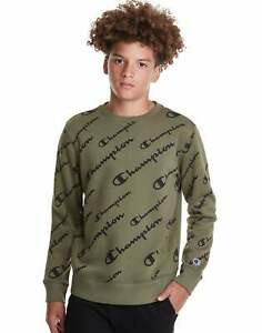 Champion Kids Fleece Sweatshirt, Allover Logo