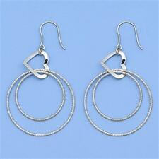 Italian Heart Hook Earrings Sterling Silver 925 Best Deal Jewelry USA Seller