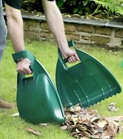 Leaf Grabber Pair Handheld Collector Grabs Gather Leaves Garden Cleaning Scoops