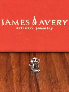 James Avery Retired Praying Angel Gabriel 3D Charm Sterling Silver