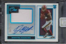 DWAYNE HASKINS 2019 PANINI ONE PREMIUM RPA ROOKIE PATCH ON CARD AUTO RC #D 36/49