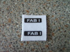 DINKY 100 FAB 1 X2  REPLACEMENT NUMBER PLATE STICKERS   NEW