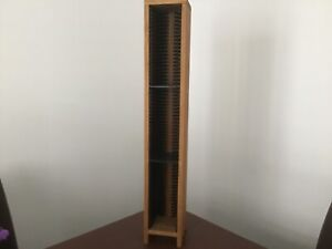 Wood Sprung Loaded CD Tower(Holds 60 CDs)