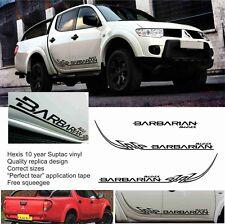 Mitsubishi L200 Ricambio Barbarian Nero Tribale Adesivi Decalcomanie Triton