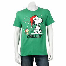 Snoopy Woodstock Christmas T-Shirt Men's size Large, New w/Tag