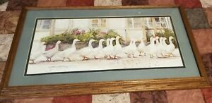 """Vintage Print, """"Dinner Call"""" By Dawna Barton Nicely Framed & Matted"""