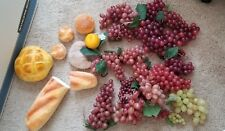 HUGE Lot of DECORATIVE GRAPES AND BREAD FOR BASKET DECOR