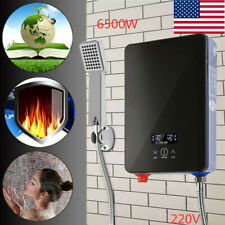Electric Instant Hot Water Heater Boiler Tankless w/Shower Nozzle 220V 6500W USA