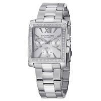 Stuhrling 540 Women's Japan Chronograph Swarovski Crystal Studded Luxury Watch