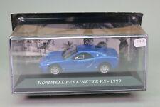 Zt842 car 1/43 ixo hommel berlinette rs 1999 blue metallic