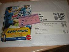 The 1988 FA Cup Semi Final Ticket & Match Programme Wimbledon V Luton Town