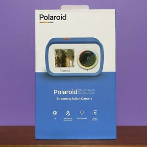 Polaroid iD922 Streaming Sport Action 4K Blue Camera Waterproof BRAND NEW!