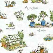 Cats in the garden-Anita Jeram- Clothworks Fabric