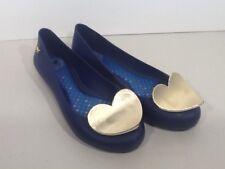 ZAXY Pop Heart Luxe Purple Gold Detail Ballerina Flats Shoes Women Sz 5 XX7-193*