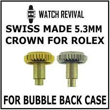 SWISS MADE 5.3MM GENERIC CROWN FOR VINTAGE ROLEX BUBBLE BACK CASE 24.503.0