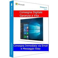 Microsoft Windows 10 Home 32/64 Bit ESD Licenza Digitale prodotto Multilingua