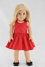 Party Red Dress American Made Doll Clothes For 18 Inch Girl Dolls