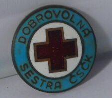 Vintage red cross badge Volunteer nurse CSCK (s4574)