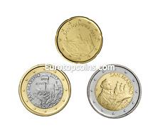 #RM# 20 CENT + 1 EURO + 2 EURO SAINT MARIN 2017 - NEUVE