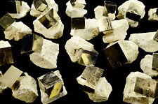 "Pyrite Cube in Matrix 1 1/2"" Throat Chakra Healing Reiki Metaphysical Stone"