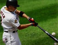 Cal Ripken Jr Autographed Orioles 16x20 Batting PF Photo- JSA W Auth *Blue
