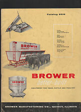 Brower Catalog 6515 Equipment for Hogs Cattle & Poultry