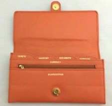 Pure Leather Ladies Travel Organiser Ticket Currency Holder with 5 pockets