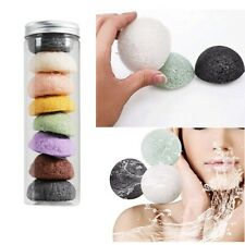 8x Konjac Facial Cleansing Wash Sponge Puffs Makeup Remover Pads Exfoliator