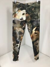 BRAVE NEW LOOK WOMEN'S GREYHOUND LEGGINGS  MULTICOLOR LARGE NEW $50