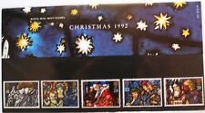 Christmas 1992 presentation pack stamps, Jesus, Mary, St. Peter, 1992, 232, MNH