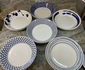 Large Pasta Bowls Royal Doulton, Pacific. Blue Or Mint Set Of 2. New.