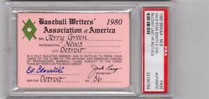 1980 Nolan Ryan 3000 K/Willie McCovey Last HR 521 PSA Ticket Pass Full Mets