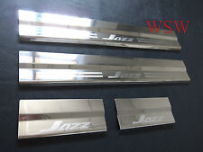NEW DOOR SILL HONDA JAZZ 2008 - 2012 STAINLESS STEEL SCUFF PLATE ENTRY 09 10 11