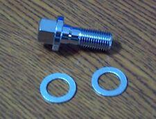 Chrome 10mm Banjo Bolt for Brake Caliper or Master Cylinder Harley Davidson