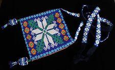 Multi-Color Huichol Beaded Shoulder Bag Medicine Bag? Peyote? Mexican Folk Art